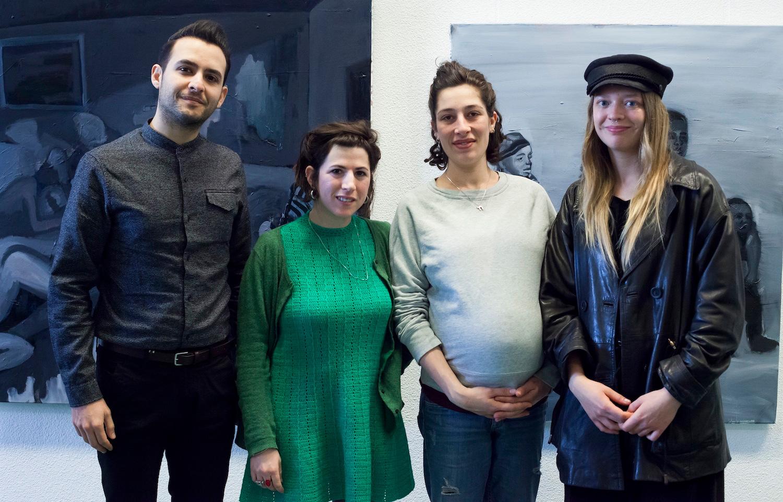 De kunstenaars in het Nationaal Holocaust Museum - Foto Mascha Jansen