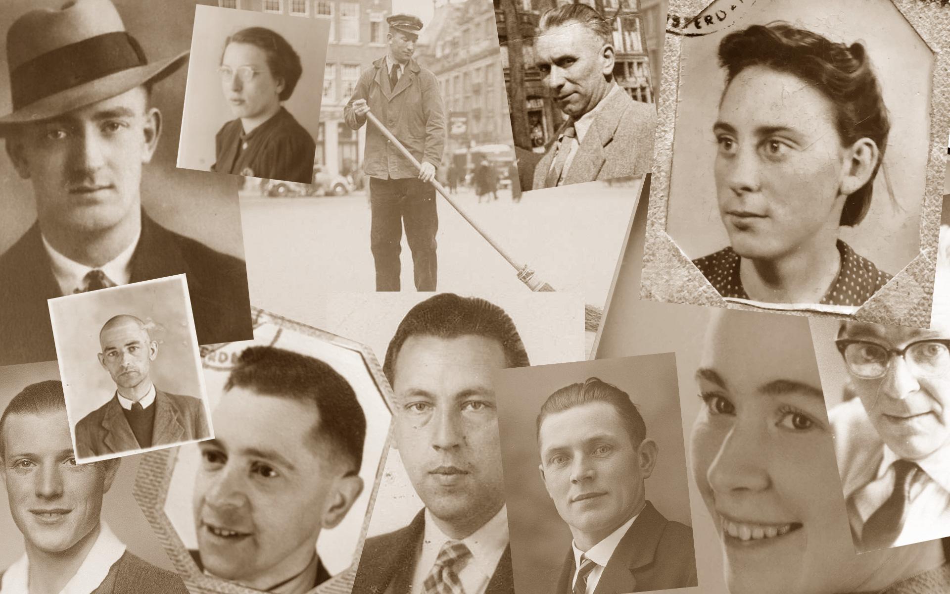 Portretten van stakers