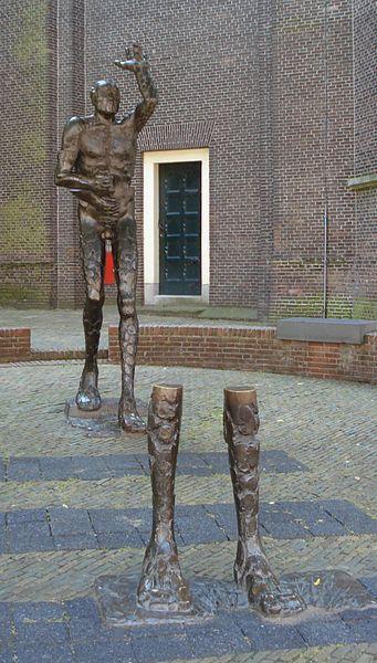 Het Geuzenmonument in Vlaardingen, een beeld door Leen Droppert - Foto: F. Eveleens