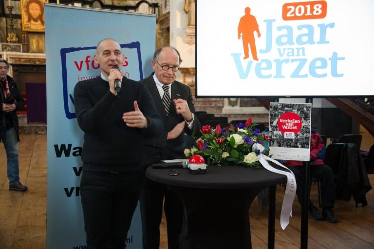 Opening Jaar van Verzet in Mozes en Aäronkerk. Foto: Hans Mooren