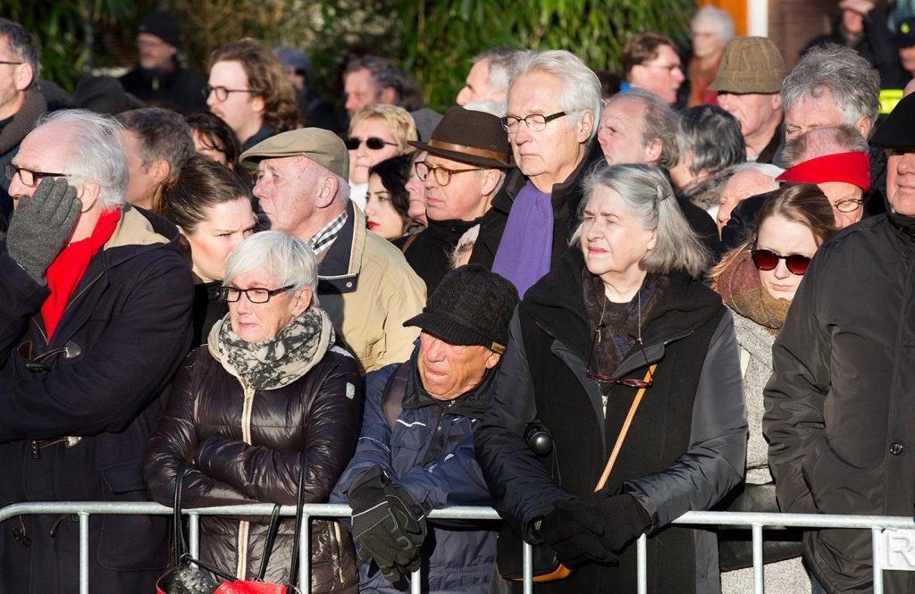 Publiek bij de herdenking