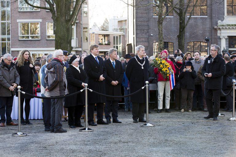 Koning Willem Alexander en Burgemeester van der Laan Foto: Mascha Jansen