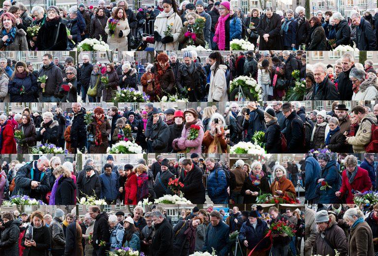 Collage van bezoekers