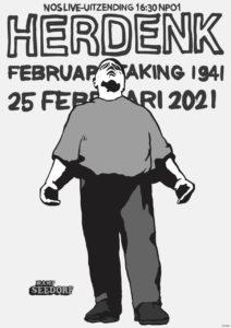 Affiche herdenking Februaristaking 1941 2021 - Kamp Seedorf